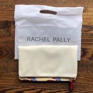 RACHEL PALLY LEATHER & FLORAL CLUTCH